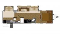 2015 North Trail 32BUDS Floor Plan