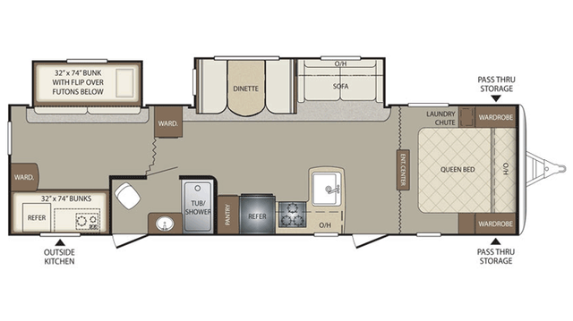 2016 Bullet 308BHS Floor Plan