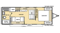 2016 Catalina 223FB Floor Plan