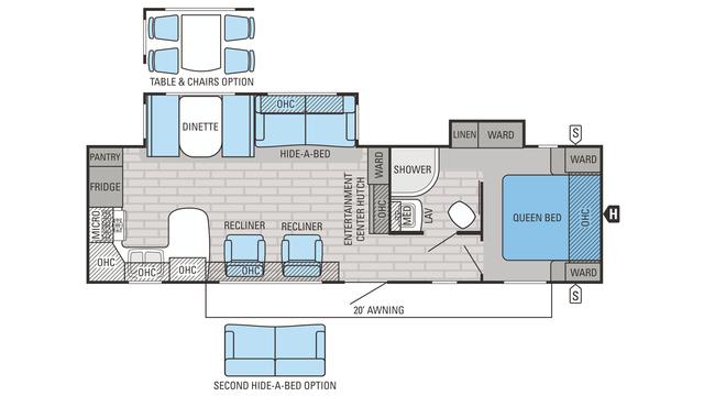 2016 Eagle 306RKDS Floor Plan