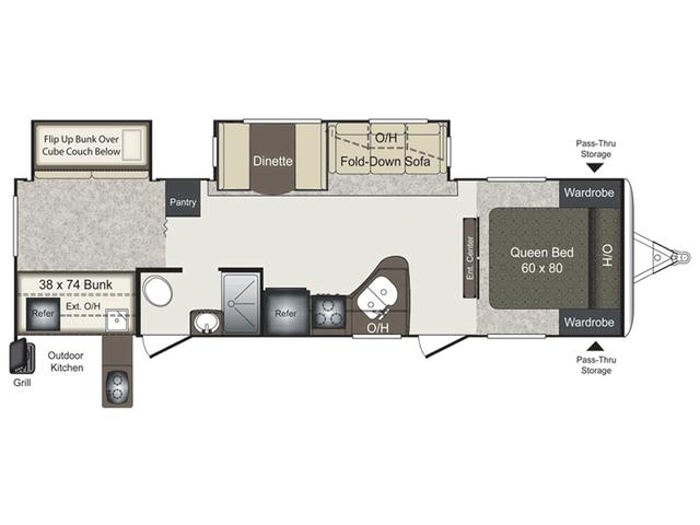 2016 Laredo 30BH Floor Plan