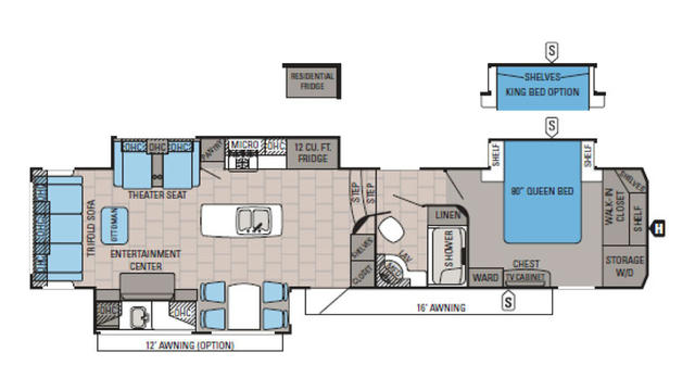 2016 North Point 351RSTS Floor Plan