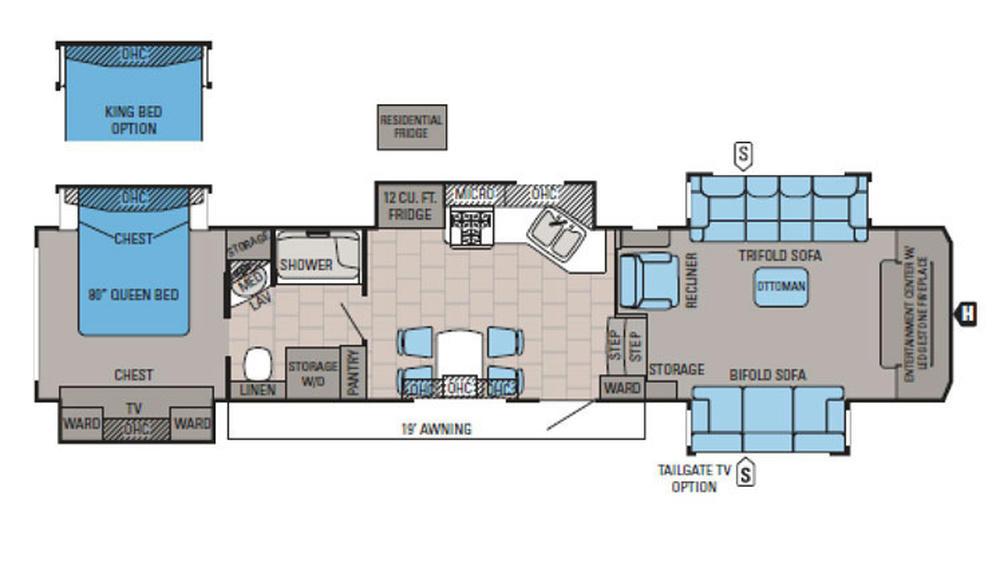 2016 North Point 383FLFS Floor Plan