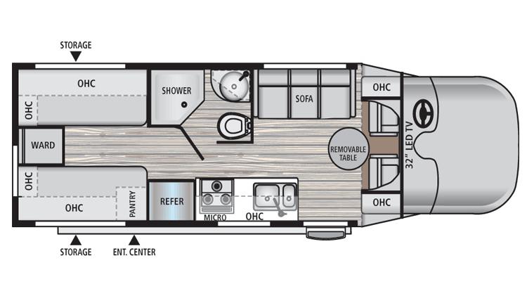 Dynamax Rv Floor Plans: 2016 Dynamax Corporation REV 24TB Camper