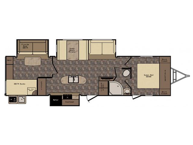 2016 Sunset Trail Reserve ST33BD Floor Plan