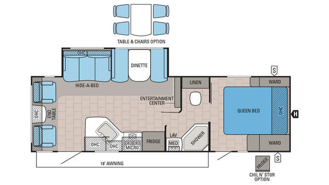 2016 White Hawk Ultra Lite 27DSRL Floor Plan