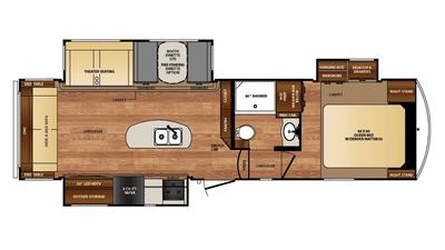 2016 Wildcat 29RLX Floor Plan