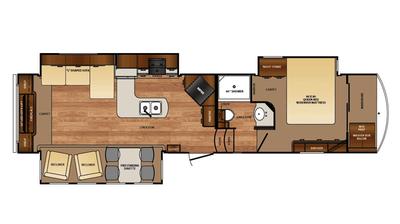 2016 Wildcat 327RE Floor Plan