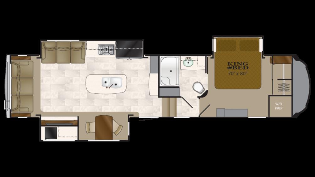 2018 Bighorn 3500SE Floor Plan Img