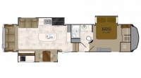 2018 Bighorn 3500SE Floor Plan
