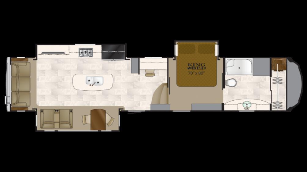 2018 Bighorn 3871FBO Floor Plan
