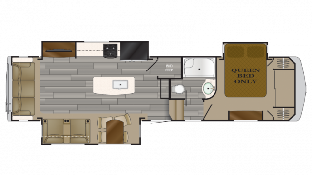 2018 Bighorn Traveler 33SE Floor Plan
