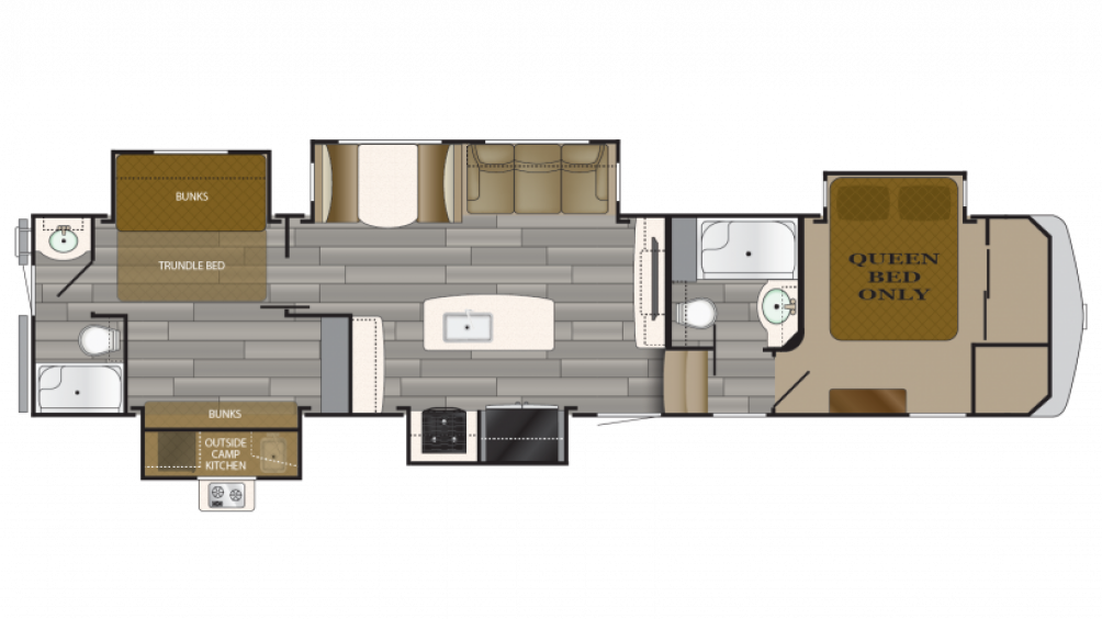 2018 Bighorn Traveler 38BH Floor Plan