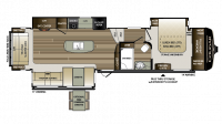2018 Cougar 344MKS Floor Plan