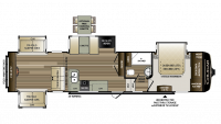 2018 Cougar 366RDS Floor Plan