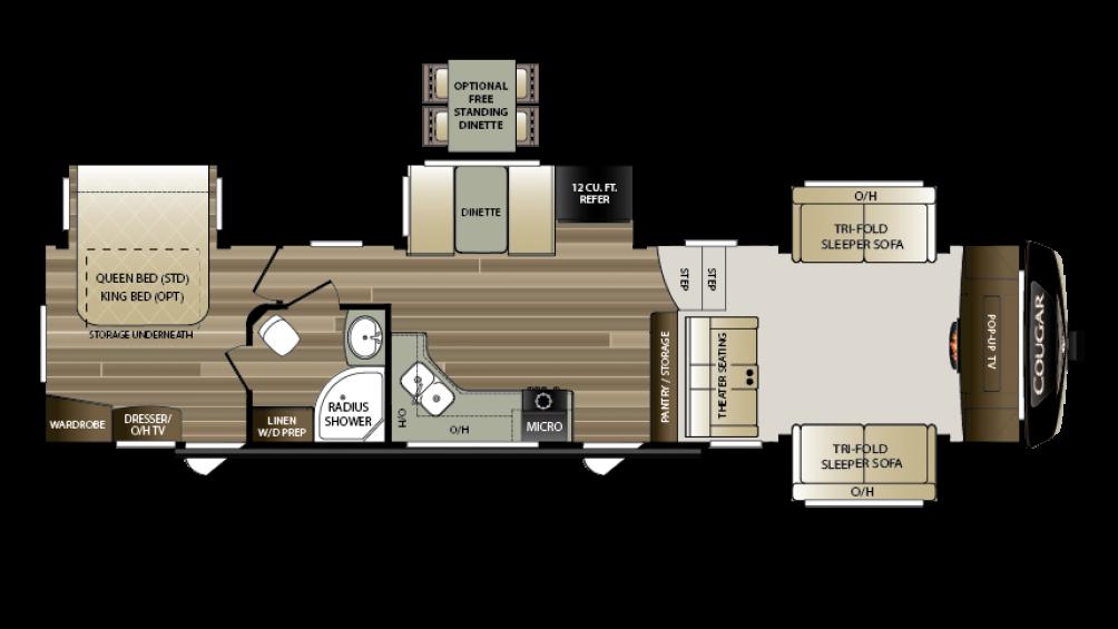 2018 Cougar 367FLS Floor Plan