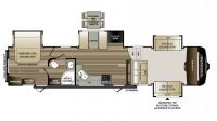 2018 Cougar 367FLS Floor Plan