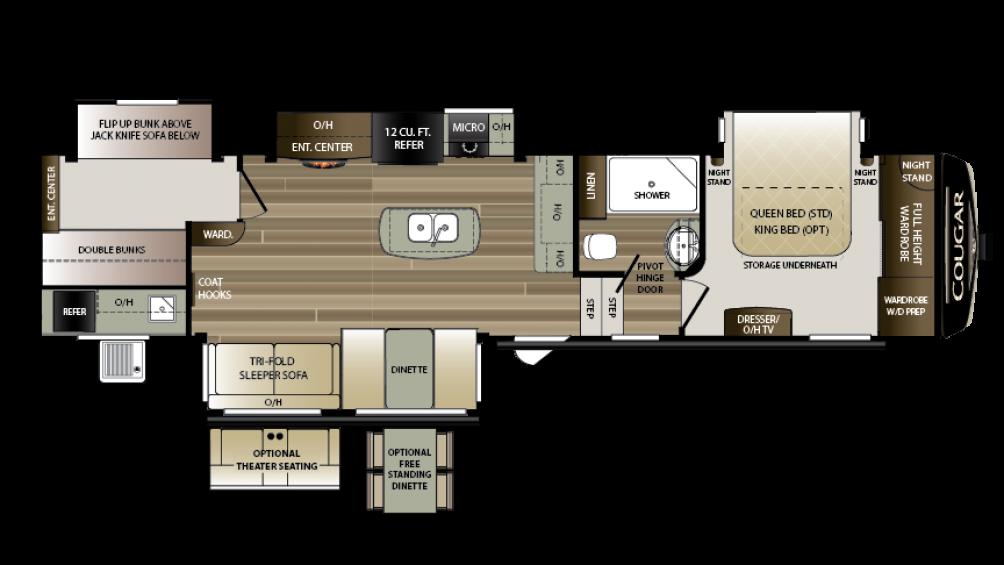 2018 Cougar 369BHS Floor Plan