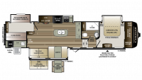 2018 Cougar 369BHS Floor Plan