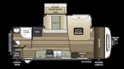 2018 Cougar Half Ton 24RBS Floor Plan