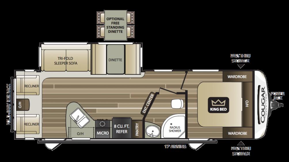 2018 Cougar Half Ton 27SAB Floor Plan