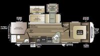 2018 Cougar Half Ton 29BHS Floor Plan