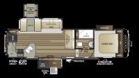 2018 Cougar Half Ton 29RKS Floor Plan