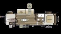 2018 Cougar Half Ton 32DBH Floor Plan