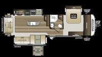 2018 Cougar Half Ton 32RLI Floor Plan