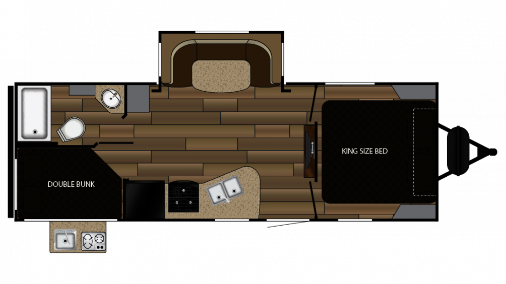 2018 Cruiser MPG 2400BH Floor Plan