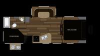 2019 Cruiser MPG 2400BH Floor Plan