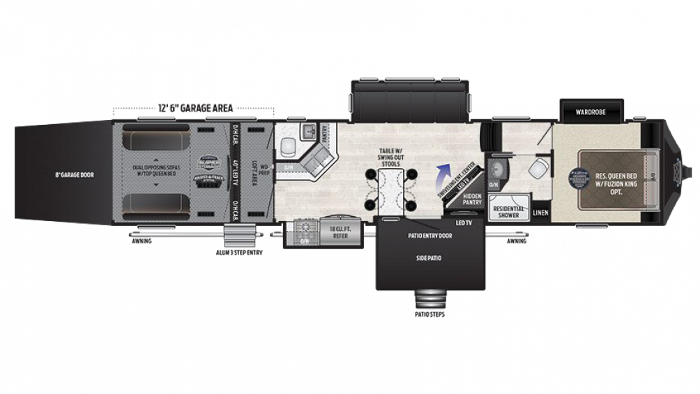 2018 Fuzion 424 Floor Plan Img