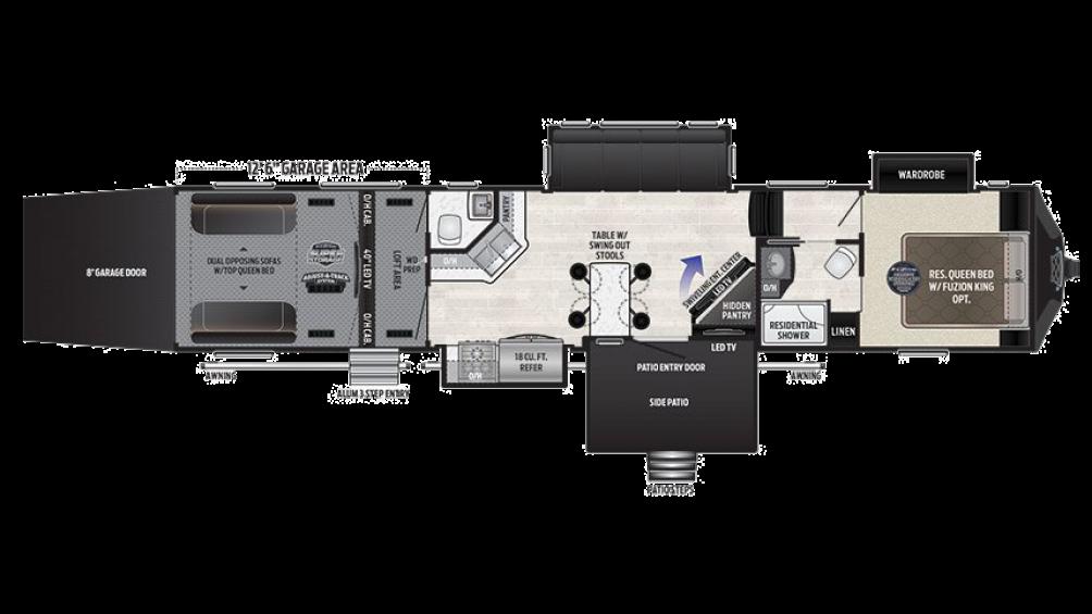 2018 Fuzion 424 Floor Plan Img