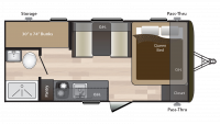 2019 Hideout 175LHS Floor Plan
