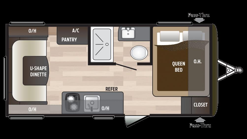2018 Hideout 177LHS Floor Plan