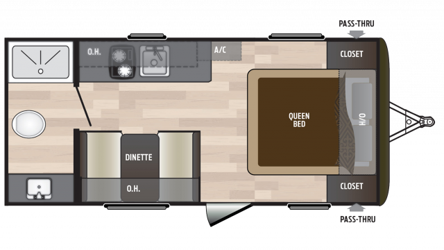 2018 Hideout 178LHS Floor Plan