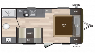 2018 Hideout 178LHS Floor Plan