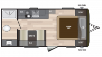 2019 Hideout 178LHS Floor Plan