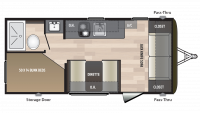 2019 Hideout 185LHS Floor Plan