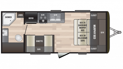 2018 Hideout 192LHS Floor Plan