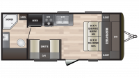 2019 Hideout 192LHS Floor Plan