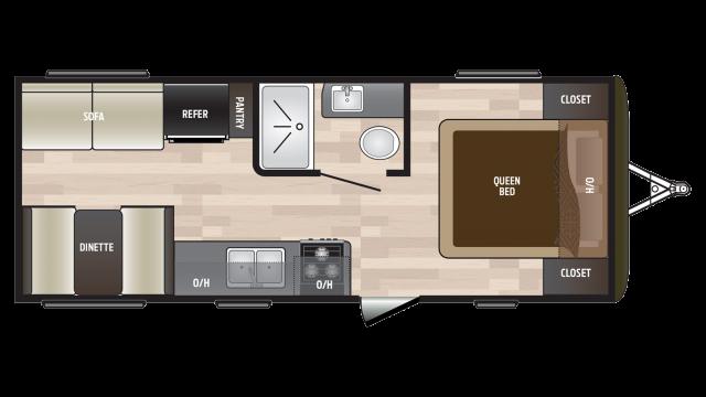 2018 Hideout 202LHS Floor Plan