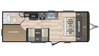 2018 Hideout 212LHS Floor Plan