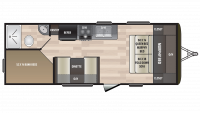2019 Hideout 212LHS Floor Plan