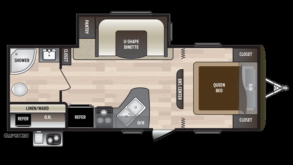 2018 Hideout 232LHS Floor Plan