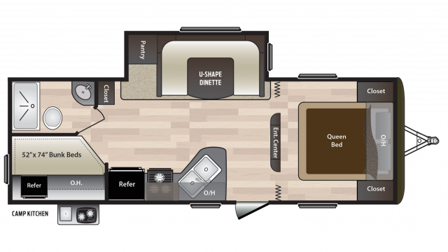 2018 Hideout 242LHS Floor Plan