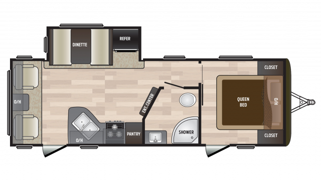 2018 Hideout 252LHS Floor Plan