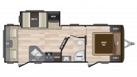 2019 Hideout 252LHS Floor Plan