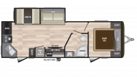 2018 Hideout 258LHS Floor Plan