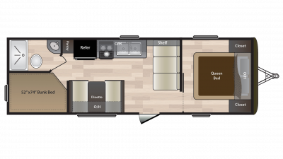 2018 Hideout 262LHS Floor Plan